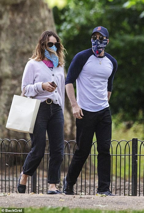 Dating: Lily was linked to Hollywood actor Chris Evans back in July when they partied together and took a walk in a London park