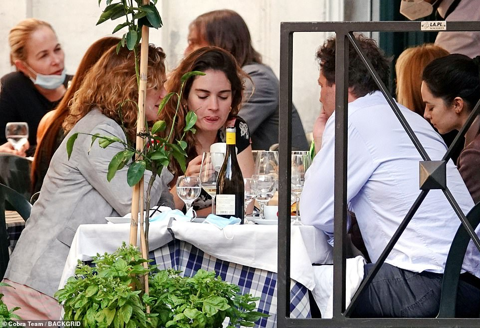 Tasty: Lily licked her lips as she sipped on an espresso as the meal came to a close