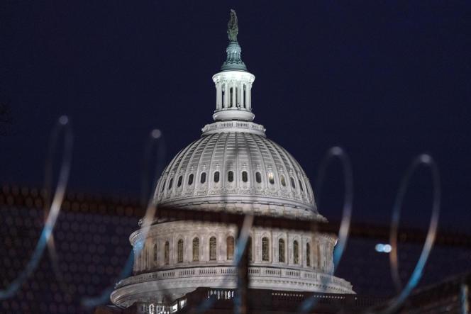Les alentours du Capitole à Washington sont hautement sécurisés, à quatre jours de l'investiture de Joe Biden, prévue mercredi 20 janvier.