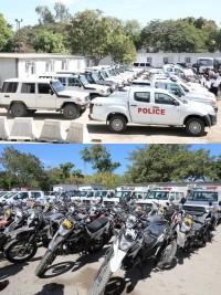 Haïti - Politique : Jovenel Moïse remet les clés d'une flotte de véhicules à la PNH