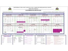 Haïti - FLASH : Calendrier scolaire 2021-2022 (officiel)
