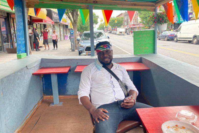 Jacques Laguerre at a Little Haiti restaurant on Church Avenue, July 8, 2021.