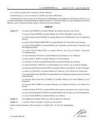 Haïti - FLASH : Nouveau Cabinet Ministériel (Liste Officielle)